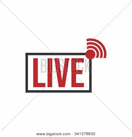 Live Stream Tv Logo Icon Vector