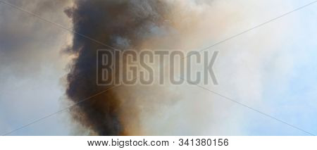 Abstract smoke storm dramatic background.