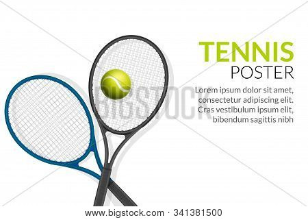 Tennis Banner Vector Photo Free Trial Bigstock