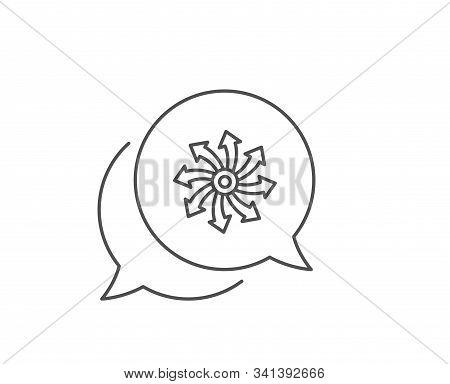 Versatile Line Icon. Chat Bubble Design. Multifunction Sign. Outline Concept. Thin Line Versatile Ic