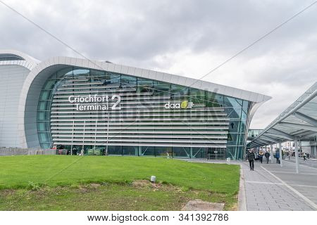 Dublin, Ireland - November 6, 2019: New Criochfort Terminal 2 Of Dublin Airport. Dublin Airport Is A