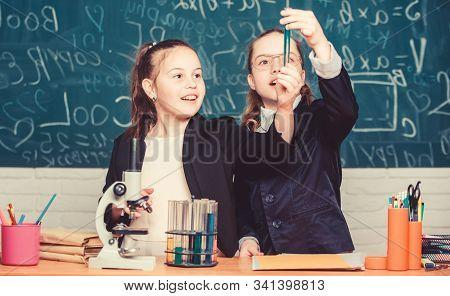 Knowledge Crossroads Molecular Biology And Chemistry. School Project Investigation. School Experimen