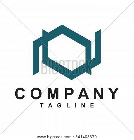 Line Art Nv, Vn, Av, Va Initials Simple Geometric Company Logo