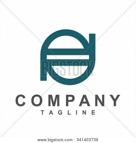Line Art Pd, Pod, Dop Initials Simple Geometric Company Logo