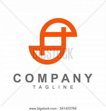 S, Pd, Psd, Spd Initials Simple Geometric Company Logo