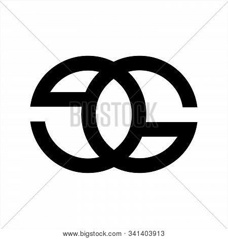 Ge, Eg, Goe, Eog Initials Geometric Company Logo