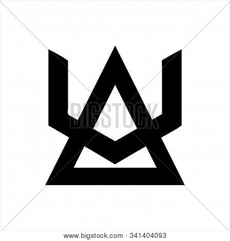 Simple Au, Ua, Va, Av Initials Geometric Company Logo