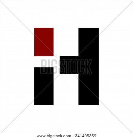 Ih, Hi Initials Geometric Letter Company Logo And Icon