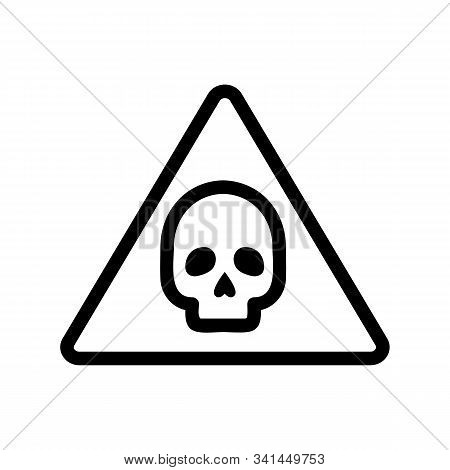 Cautiously Danger Icon Vector. A Thin Line Sign. Isolated Contour Symbol Illustration