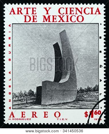 Mexico - Circa 1976: A Stamp Printed In Mexico From The