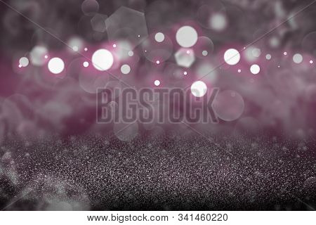 Pink Cute Glossy Abstract Background Glitter Lights Defocused Bokeh - Festal Mockup Texture With Bla