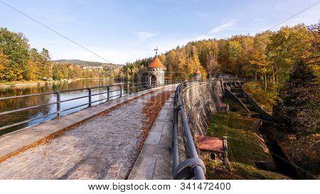 Dam In Liberec Harcov In Autumn Time