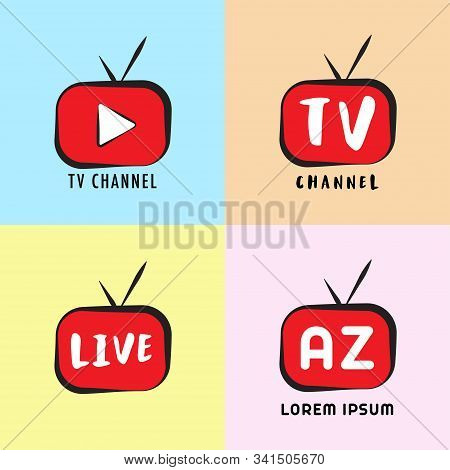 Youtube, Instagram, Live Streaming, Online Television, Web Tv, Simple, Alphabetic, Pictorial, Cartoo