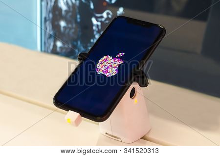 Saint-petersburg, Russia - December 3, 2019: The New Iphone 11 Smartphone In The Mobile Phone Store