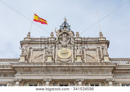 The Royal Palace Of Madrid (palacio Real De Madrid), The Official Residence Of The Spanish Royal Fam