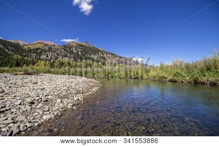 Fall Day On The Lake Fork Of The Gunnison River Near Lake City, Colorado.