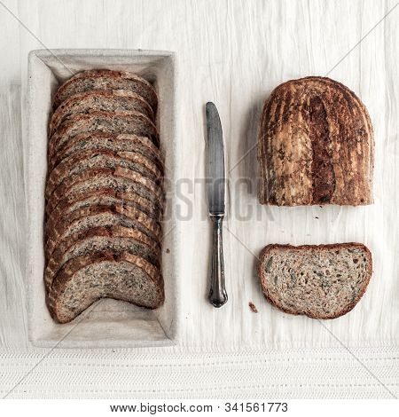 Whole Wheat Seed Bread Made With Sourdough
