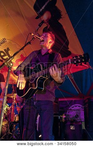Ben Daughtry from Exeter based band N.U.M.B. performing live in the World Big Top
