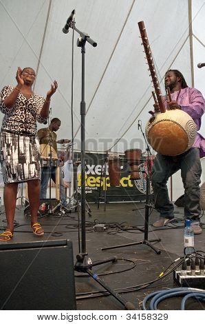 Modou N'Diaye & Cassa Afro perform live on the Global Community Stage