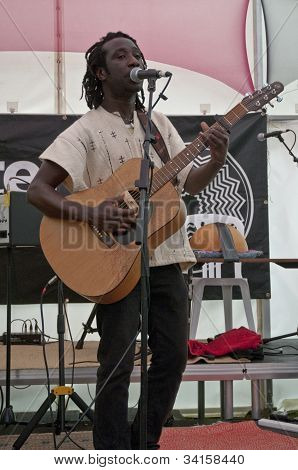 Senegalese singer-songwriter, Amadou Diagne performing live in the Acoustic Cafe