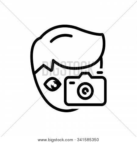 Black Line Icon For Hobby Penchant  Photography Photocamera Take-photo