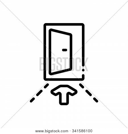 Black Line Icon For Input Penetration Entry Admission Ingress