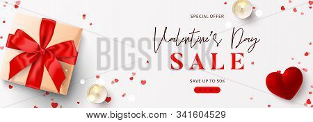 Promo Banner For Valentine's Day Sale