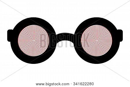 Hypnotic Glasses Isolated On A White Background. Eps 10