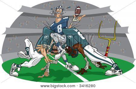 Rush In American Football Game