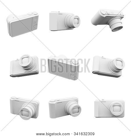 Camera Isolated On The White Background  3d Rendering