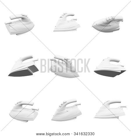 Iron Isolated On The White Background 3d Rendering