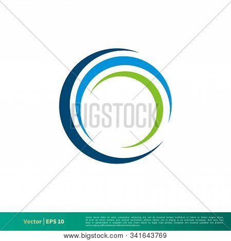 Swoosh Circle Icon Vector Logo Template Illustration Design. Vector Eps 10.