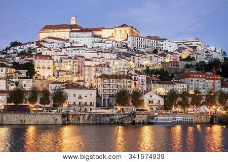 Coimbra Cityscape In The Evening, Portugal