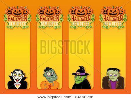 Hallowen New Offer vertical labels