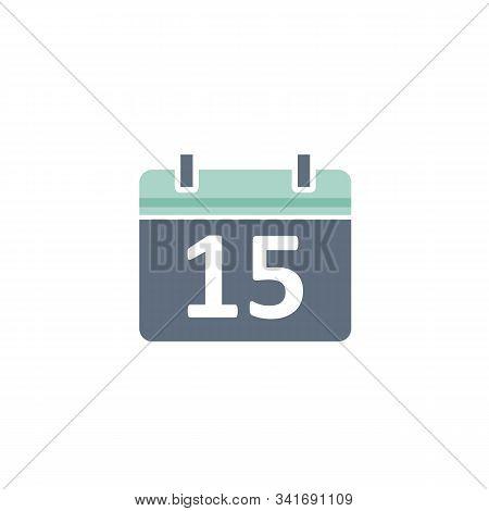 Calendar Icon Isolated Black On White Background, Calendar Icon Vector Flat Modern, Calendar Icon, C
