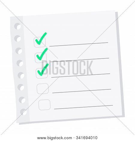Check List Paper. Todo List Concept - Vector