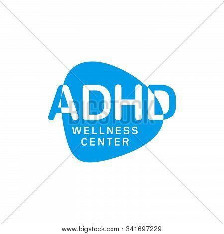Adhd  Wellness Center  Logo Vector. Attention Deficit Hyperactivity Disorder.
