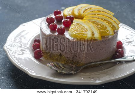 No Baking Cheesecake With Cranberries Dried Apricots And Orange