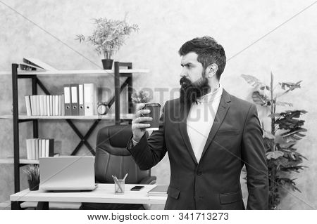 Full Concentration. Businessman In Formal Outfit. Concentration At Work. Confident Man Concentrated