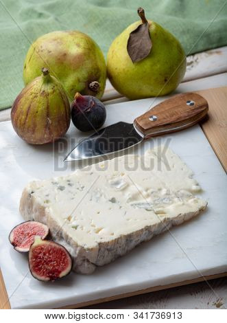 Gorgonzola Dolce Italian Blue Cheese, Made From Unskimmed Cow's Milk In North Of Italy