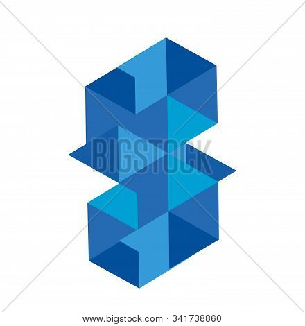 Bm, Bw, Gm, Gw Initials Triangle Block Chain Logo