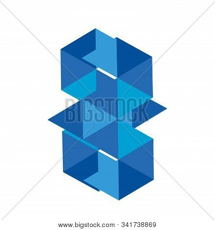 Bm, Bw, Gm, Blue Diamond Vector Illustration And Logo