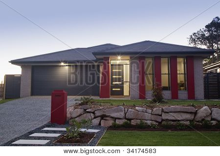 Suburban House Front