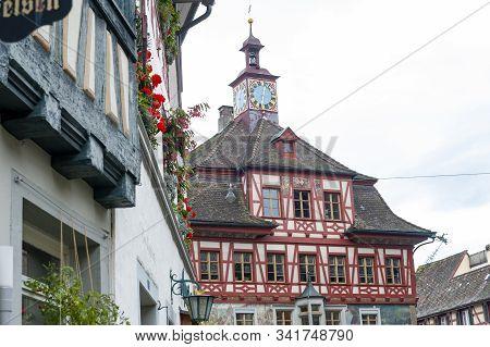 Stein Am Rhein, Switzerland - October 2019: Historic Building Of Rathaus, Administrative Town Hall O