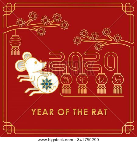 2020 Chinese New Year Decorative Elements. Happy Chinese New Year 2020, New Year, Chinese New Year 2