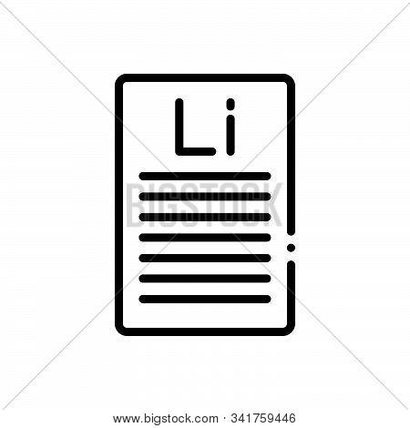 Black Line Icon For Lorem-ipsum Lorem Ipsum Text Magazines Letter Example Sample