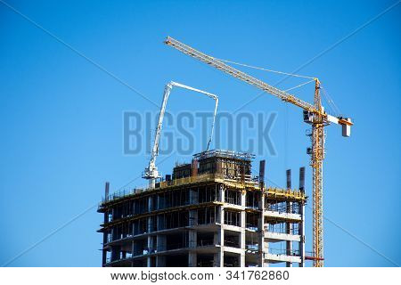 Close Up Of Ras Al Khaimah Building Development Building High Rise Hotel Or Apartment Building Compl