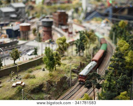 Train Hobby Model On The Model Railway