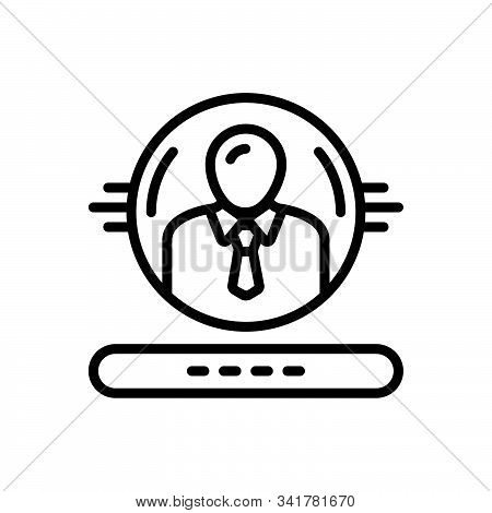 Black Line Icon For Administration Regime People Admin