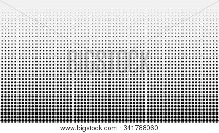 Halftone. Abstract Gradient Background Of Black Dots. Vector Illustration.